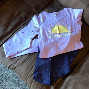 Brand new George leggings and T-shirt